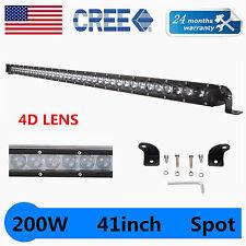 41Inch Slim 200W Offroad Single Row CREE Chip LED Light Bar Spot Beam Offroad US