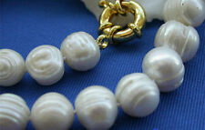 """Pearl Necklace 18"""" Aa+ New 10-11Mm White Akoya Cultured"""