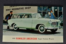 1959 Rambler American Station Wagon Postcard Brochure Nash AMC Excellent Orig 59