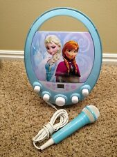 Frozen Disney Elsa & Anna Karaoke Machine & CD Player with Microphone Lights Up