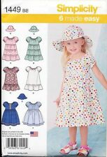 SIMPLICITY SEWING PATTERN 1449 BABIES/TODDLERS SZ ½-2 DRESS W/ SKIRT VARIATIONS