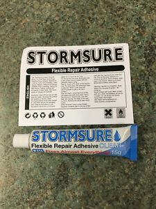 STORMSURE WATERPROOF GLUE ADHESIVE 15g  CLEAR FLEXIBLE REPAIR STRONG FIX BOND