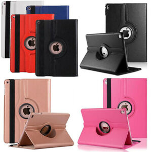 360° Rotating Leather Stand Smart Case Cover For iPad Pro Samsung Huawei Tablet