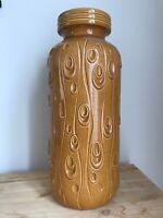Vintage Retro Scheurich Floor Vase 288-40 Decor Koralle West German Pottery 1960