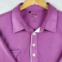 ADIDAS ClimaCool Retro Size XL Mens Vented Pocket Golf Polo Shirt Purple EUC