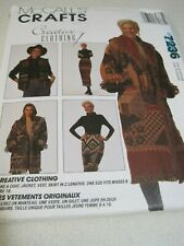 UNCUT McCall's Crafts Creative Clothing Sewing Pattern # 7236 Mixed Lot 1994