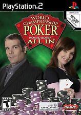 PS2 World Championship Poker All In Video Game online multiplayer howard lederer