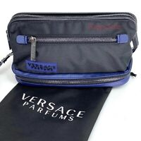 VERSACE TOILETRY CASE TRAVEL BAG MENS DOPP KIT POUCH WITH DUST BAG NEW