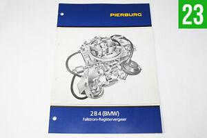 Solex Zenith 2B4 Vergaser BMW 316 518 Unterlagen, Heft, Handbuch Beschreibung
