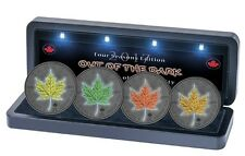 MAPLE LEAF Out of Dark -  4 Seasons Silver Coins set  Canada 2017  Ready SHIP