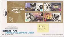 TALLENTS PMK GB ROYAL MAIL FDC 2012 WELCOME TO PARALYMPIC GAMES MINIATURE SHEET