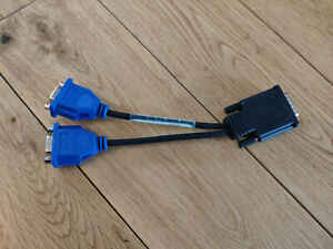 LFH-59 (DMS-59) DVI to Dual VGA M/F Splitter Adapter