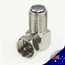 2 x F Type Right Angle 90 Degree Connector Adapter Plug Coaxial HD RG59 RG6