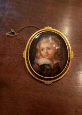 Of A Young Boy On Porcelain New listing Mid 19th Century Miniature Portrait