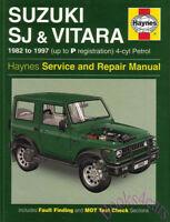 SUZUKI SJ SAMURAI SHOP MANUAL SERVICE REPAIR BOOK SJ410 SJ413 VITARA HAYNES JEEP