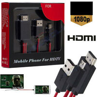 Micro 11Pin USB To HDMI 1080P HD TV Cable Adapter Android Mobile Phones 2Colors