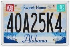 ALABAMA - JUMBO FRIDGE MAGNET - LICENCE PLATE UNITED STATES AMERICA SWEET HOME