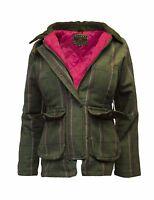 Ladies Derby Tweed Shooting Hunting Country Jacket Coat 8-24 PINK STRIPE