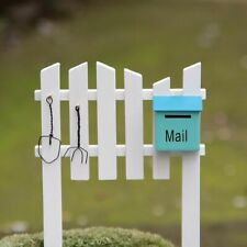 Mailbox Fence Miniatures Figurines Ornaments Home Decor Decoration Crafts Wood