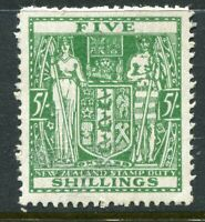 NEW ZEALAND....  1931 Arms   5/- green   mnh