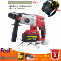 4 in1 68V Brushless Cordless Hammer Drill Driver 10000mA+ 2 Battery WITH Charger