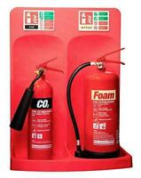 Commander Double Fire Extinguisher Stand *EXTINGUISHERS & SIGNAGE NOT INCLUDED*