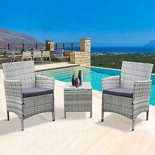 REFURBISHED - Neo 3 Piece Rattan Garden Furniture Set Chair Table Patio Outdoor