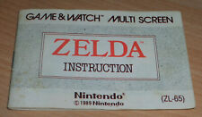 ZELDA NINTENDO GAME & WATCH MANUAL INSTRUCTIONS