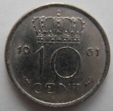 NETHERLANDS 10 CENTS 1961
