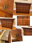1870's French Country 4 Draw Dresser Commode Lille France Key Handles Marble Top