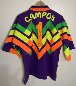 Jorge Campos Mexico Authentic Vintage signed Jersey 1994