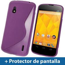 Violeta Funda TPU Gel para LG Google Nexus 4 E960 Smartphone Case Carcasa