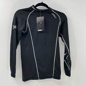 2XU compression long sleeve top mens sz M Medium NWT Black