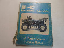 1986 Kawasaki KLF300 All Terrain Vehicle Service Manual DAMAGED FACTORY OEM DEAL