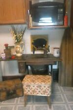 Antique Sewing Machine Table and bench