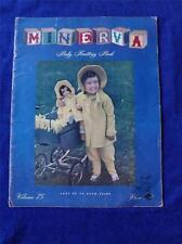 MINVERVA BABY KNITTING PATTERN BOOK VOLUME 75 VINTAGE 1948 BOOTIES BLANKETS SOCK