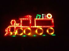 Vintage Christmas train light up chaser window display santa
