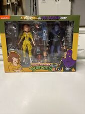 NECA TMNT Teenage Mutant Ninja Turtles April O' Neil vs Foot Soldier Bashed