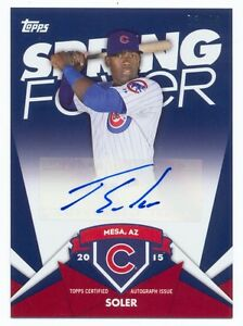 2015 Topps Spring Fever Jorge Soler Auto #73/99 Cubs