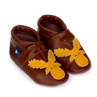 Pantau Kinder Hausschuhe Lederpuschen Krabbelschuhe Mädchen Jungen - Elch, Pferd
