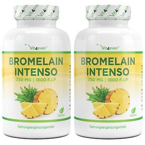 Bromelain Intenso - 240 Kapseln (vegan) a 750mg  (1800 F.I.P) - Ananas-Extrakt
