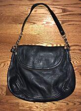 KATE SPADE Cobble Hill PENNY Black Pebbled Leather Shoulder Bag Hobo Purse