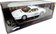 HOT WHEELS ELITE 1/18 FERRARI TESTAROSSA WHITE P9904 MIAMI VICE NOT KYOSHO