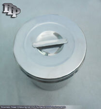 """Stainless Steel Dressing Jar 7x7"""" Surgical DDP Instruments"""
