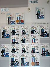 BELIZE 1979 443-50 A-B Block 12-13 461-70 Olympics 1980 Lake Placid Sports MNH