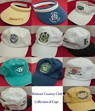 Belmont Country Club - Collection Set of 11 Caps or Visors - Hat Hats Cap Visor