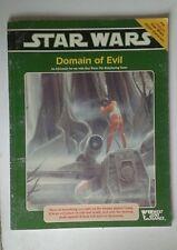 Dominio del mal aventura 2E STAR WARS SCI-FI libro de juego de rol RPG Weg West End