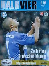 Programm 2004/05 Arminia Bielefeld - Bayer Leverkusen