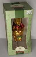 Vintage Classic Pooh by Disney Holiday in the 100 acre Wood blown glass ornament