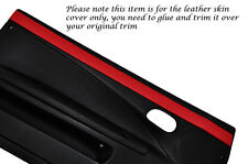 Rojo 2x Puerta Tarjeta Ribete Cuero Piel Cubre encaja Fiat Coupe 1993-2000
